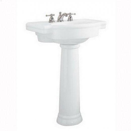 "28-1\/4\"" x 9-7\/8\"" Fireclay White Retrospect Pedestal Sink Leg"