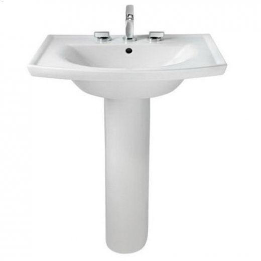 Vitreous china White Tropic & Boulevard Pedestal Sink Leg
