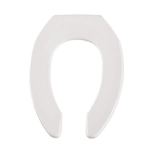 Elongated Plastic White Toilet Seat