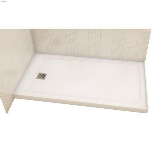 Olympia Square 4832 White Centre Drain  Corner Shower Base