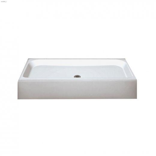 Finesse 6032 White Centre Drain Shower Base