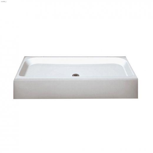 Finesse 4832 White Centre Drain Shower Base
