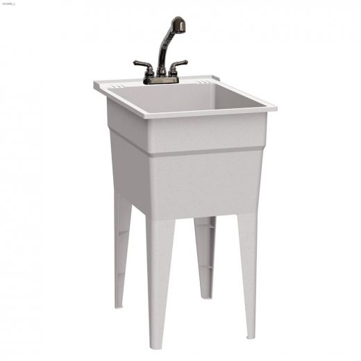 """18\"""" Granite Polypropylene All-In-One Laundry Sink"""