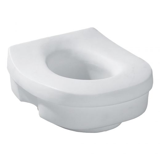 Plastic White Home Care Elevated Safety Toilet Seat