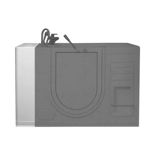 "29"" x 10"" x 37"" White Tub Filler & Extension Panel"