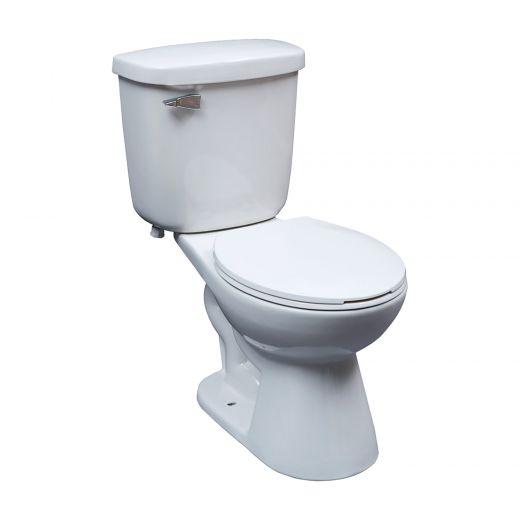 Saint John White 1.6 gpf Round Front 2-Piece Toilet
