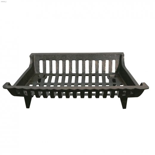 "18"" x 12-1\/2\"" x 4-1\/2\"" Black Cast Iron Grate"
