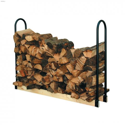 Black Adjustable Log Rack