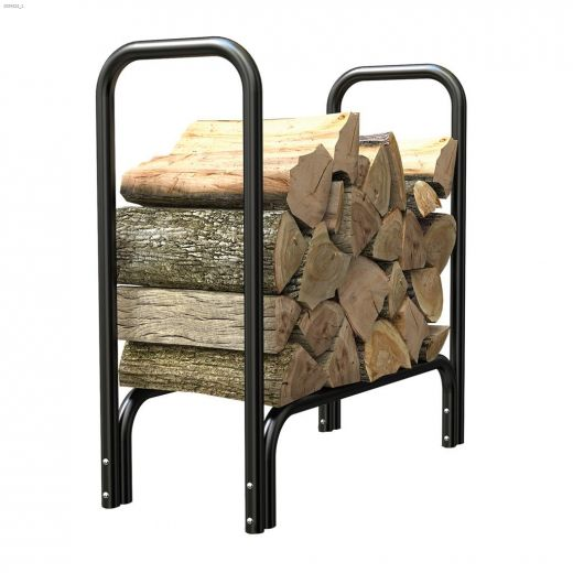 "33"" x 2' x 13\"" Black Log Rack"