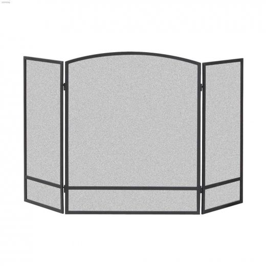 """48\"""" x 30\"""" Black 3-Panel Arched Screen With Bar"""