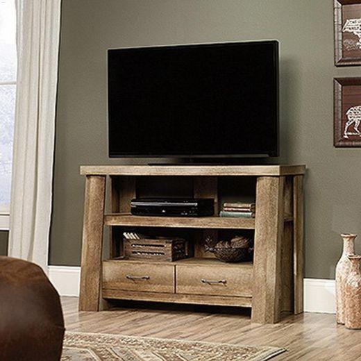 "49-1\/4\"" x 32-3\/8\"" Craftsman Oak Boone Mountain TV Stand"