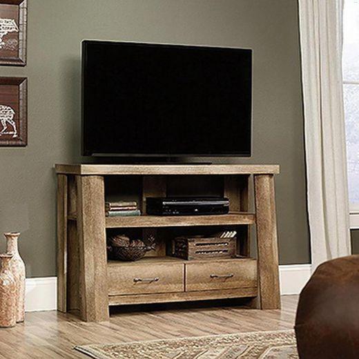 "49-1/4"" x 32-3/8"" Craftsman Oak Boone Mountain TV Stand"