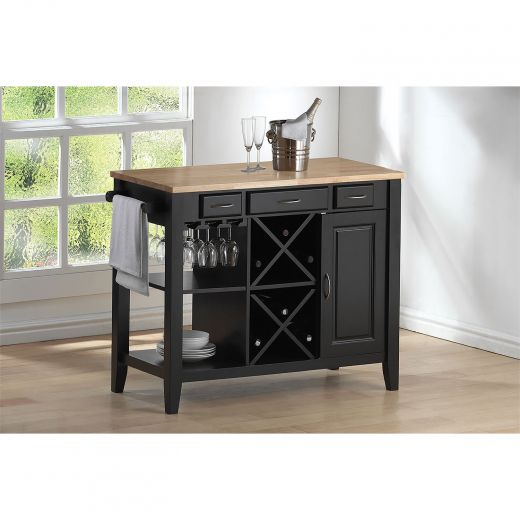 Madison Kitchen Cart In Black