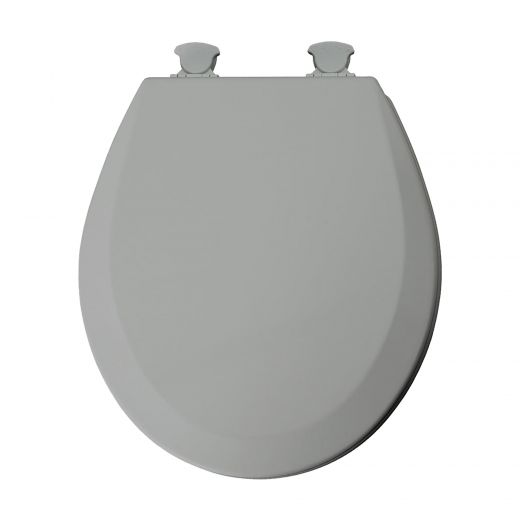 Easy Clean Round Molded Wood Toilet Seat