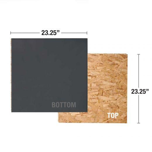 "23.25"" x 23.25"" x 1"" OSB/XPS Foam Insulated Subfloor"