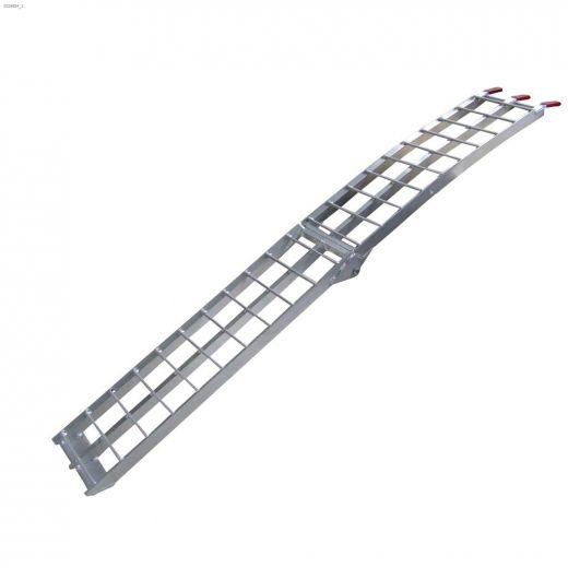"90\"" x 12\"" 750 lb Bi-Fold Arched Ramp"