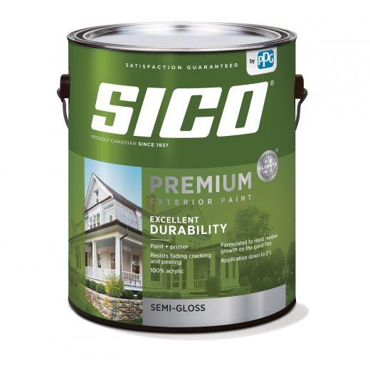 4 L 100% Acrylic Semi-Gloss Pure White Exterior Latex Paint