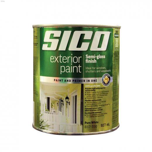 1 L 100% Acrylic Semi-Gloss Pure White Exterior Latex Paint