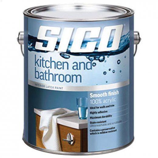 4 L Pure White Kitchen & Bathroom Interior Latex Paint