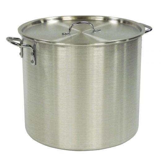 48 L Aluminum Stock Pot With Lid