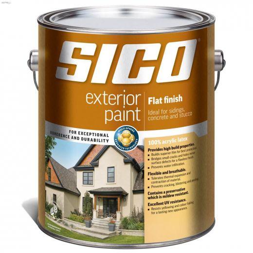 4 L 100% Acrylic Flat Exterior Latex Paint