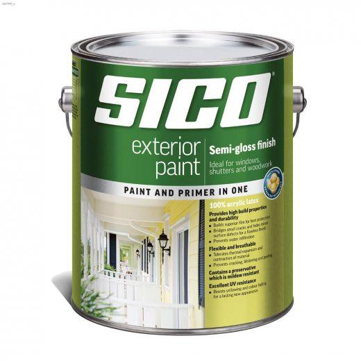 4 L Semi-Gloss Exterior Latex Paint