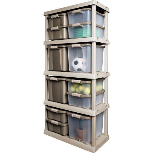47 L Clear Shelf Tote
