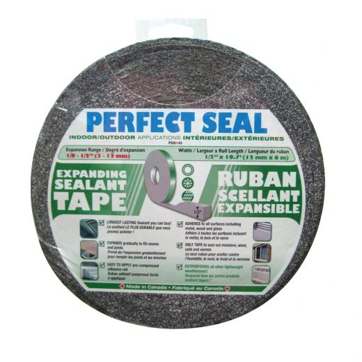 "1/8"" x 1/2"" x 19.7' Expanding Grey Sealant Tape"