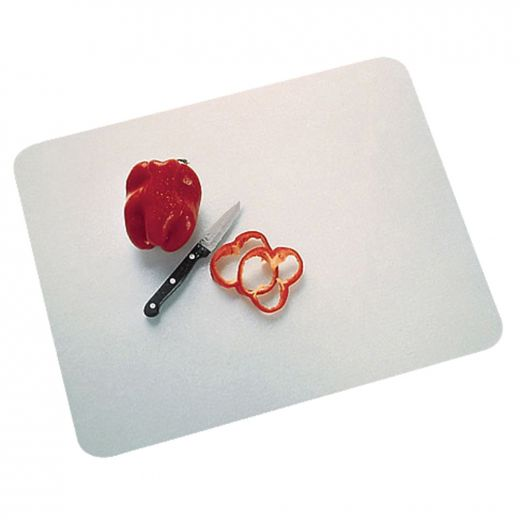 """16"""" x 20"""" White Built-In Surface Saver Cutting Board"""