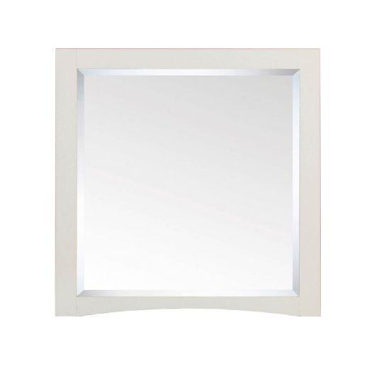 """30"""" White Mirror"""