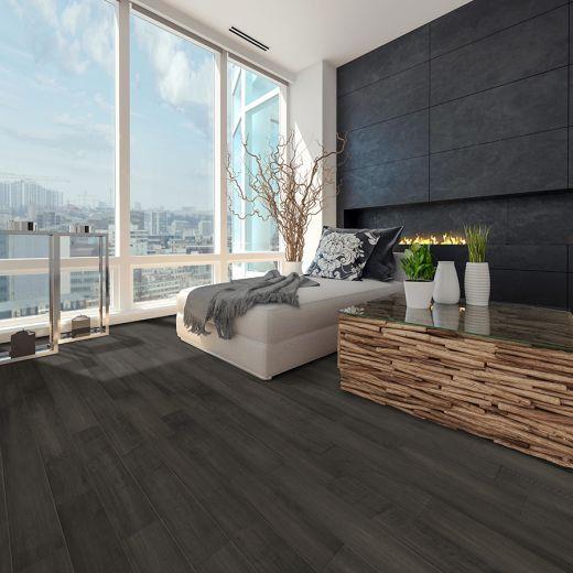 Plancher de bois franc d'ingénierie érable graphite 6 pi