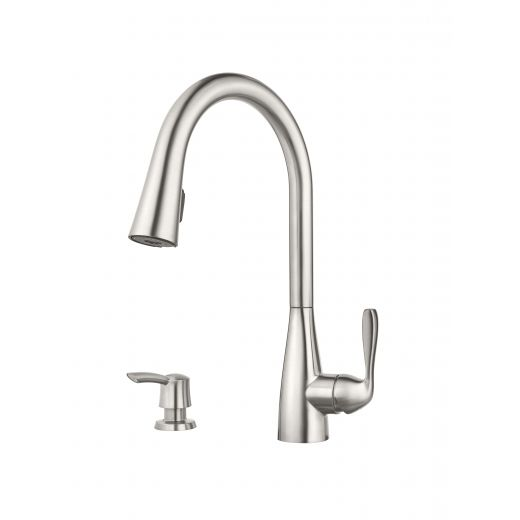 Lima Single Handle Stainless Steel Kitchen Faucet