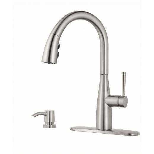 Raya Single Handle Stainless Steel Kitchen Faucet