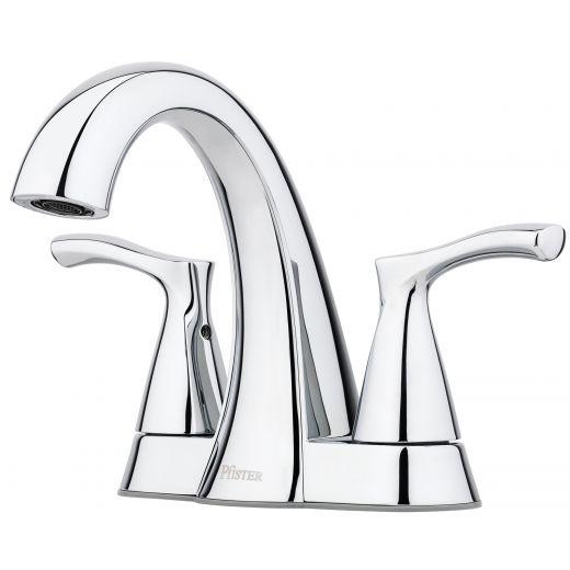 """Masey 4"""" Centre 2 Handle Chrome Lavatory Faucet"""