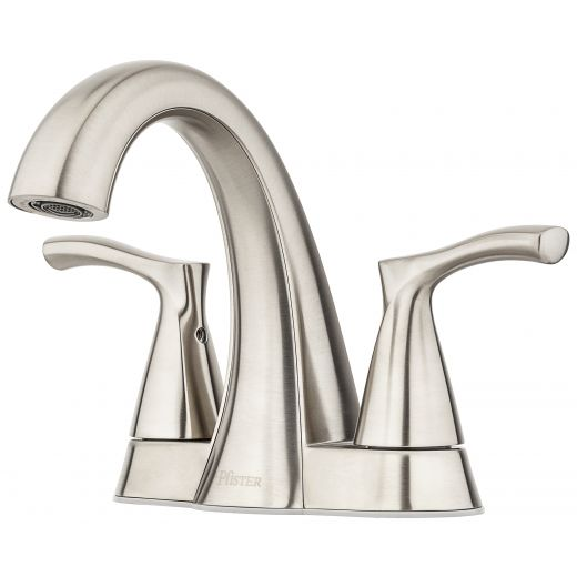 """Masey 4"""" Centre 2 Handle Brushed Nickel Lavatory Faucet"""