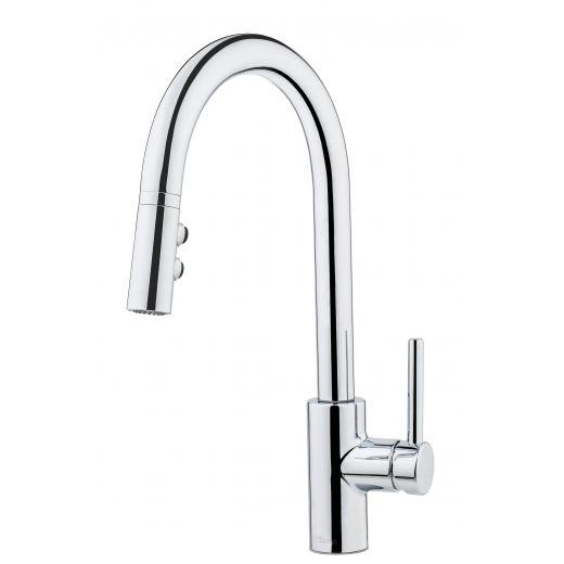 Fullerton Single Handle Pull-down Chrome Kitchen Faucet