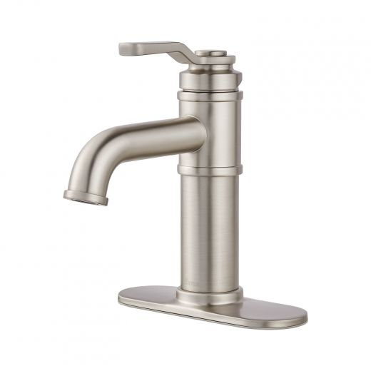 """Breck 4"""" Centre Single Handle Brushed Nickel Lavatory Faucet"""
