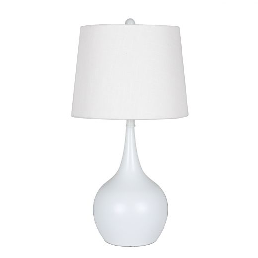 """23"""" Touch Lamp Grey Base with White Shade"""