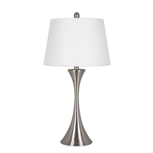 """28.5"""" Touch Lamp with Brushed Nickel Base"""
