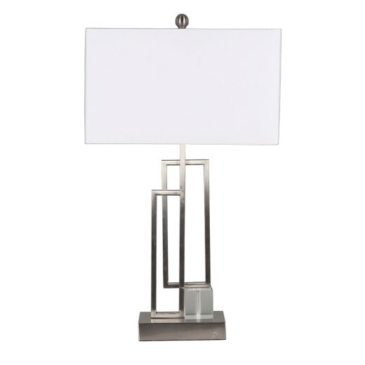 """30"""" Rectangle Lamp with Brushed Nickel Base"""