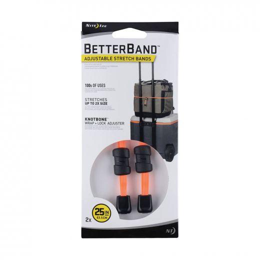 "Betterband Adjustable Stretch Bands 25"" - Bright Orange"