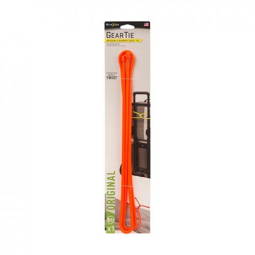 """Gear Tie Reusable Rubber Twist Tie 64"""" - Bright Orange"""