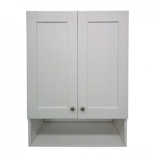 """24"""" Classic White Laundry Cabinet With Shelf"""