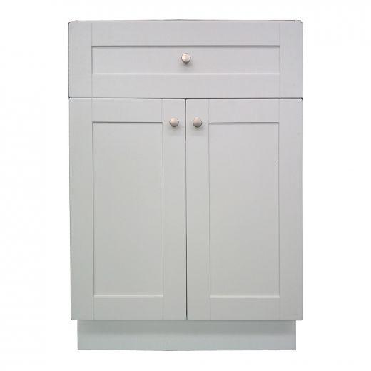 """24"""" Classic White Laundry Base Cabinet"""