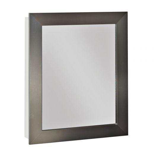 Brushed Nickel Framed Medicine Cabinet