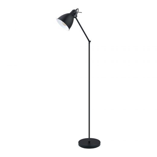 Priddy Floor Lamp 1L, Black Finish