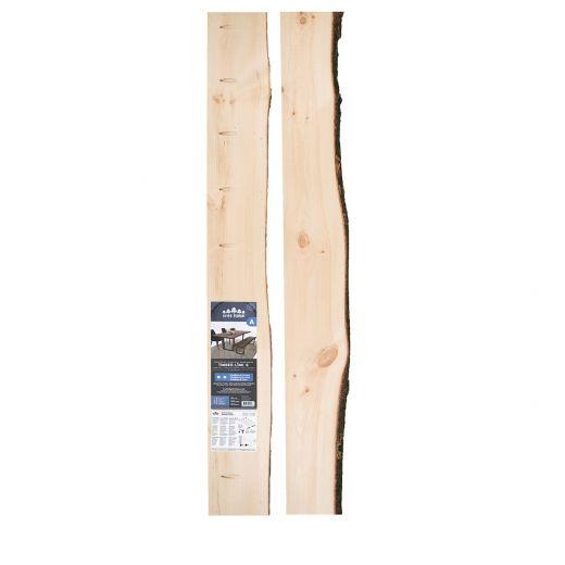 "2"" x (5""-8"") x 6' Live Edge Pine Timber-link Edge Slab"
