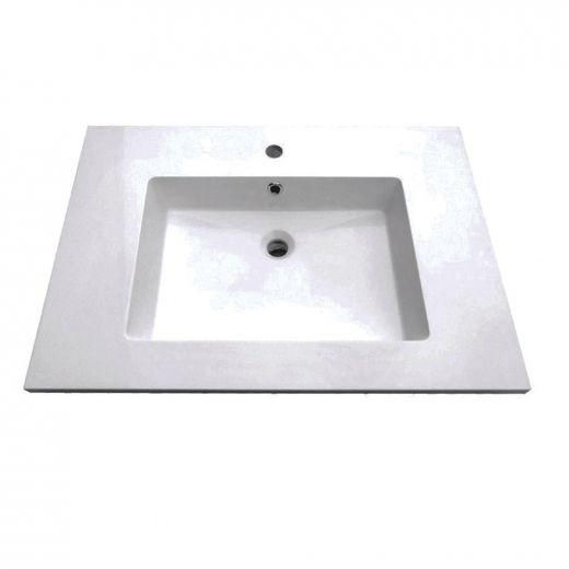 "Rectangular Basin 31"" x 22"" Single Hole"
