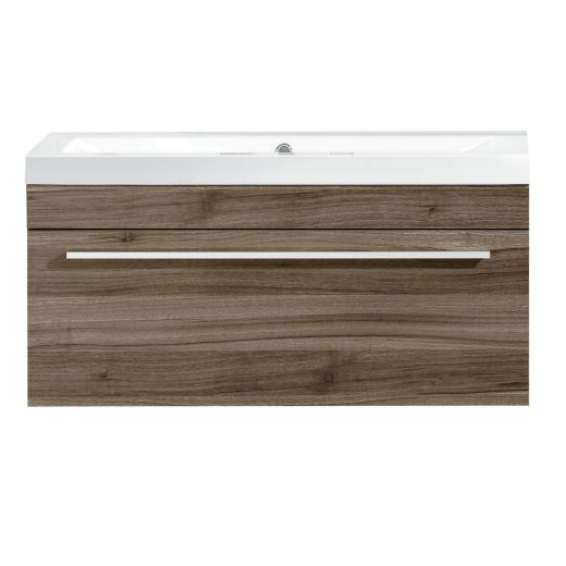 """30"""" Relax Brown Wall Hung Vanity With Top"""