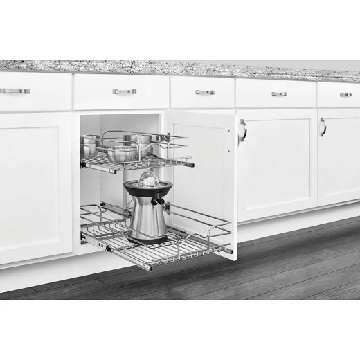 15 Inch Two-tier Pull-Out Baskets Soft Close